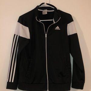Black & White Adidas Zip-up Jacket
